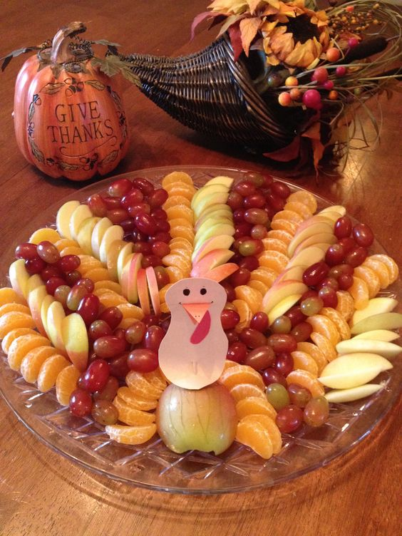 Fruitful Turkey: fun and healthy Thanksgiving  food!