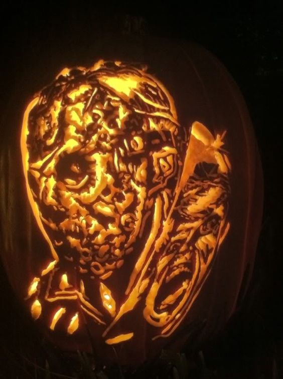 jason voorhees friday the 13th pumpkin carved by