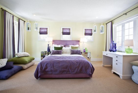 #bedroom #green #purple #masterbedroom