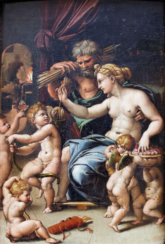 Vénus et Vulcain, Romano (Louvre)