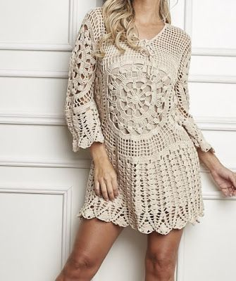 30 Best Vestidos Em Croche Images On Pinterest Crochet Dresses