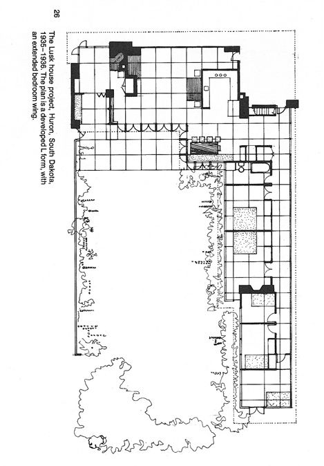 Wright Usonian Lusk House Huron Sd It 39 S A Plan