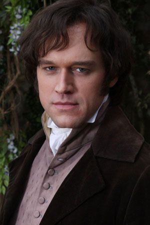 "Elliot Cowan as Mr. Darcy in 'Lost in Austen'.  He was a ""fair Darcy""  Of the four that I have seen, he is number 3."