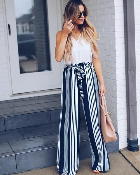 PREORDER - Bottom Line Striped Tie Pants