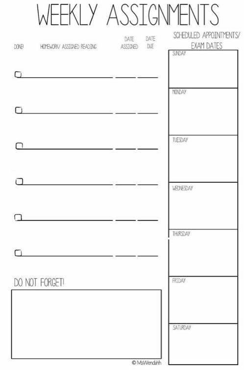 Free College Planner Printables + Stickers | MsWenduhh Planners & Printables