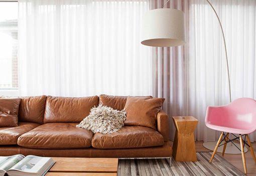 Leather. Sofa.