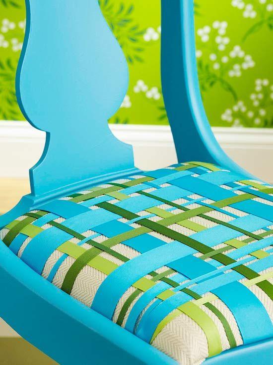ribbon seat cushion