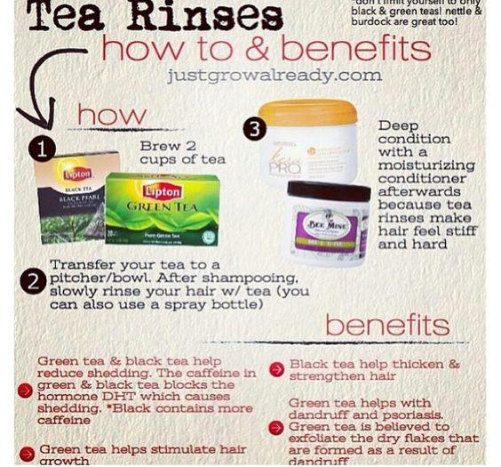 Tea rinses