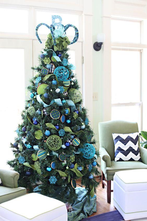 Ideas de como decorar tu arbol de navidad en azul rbol for Arbol navidad turquesa
