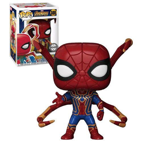 Funko Pop Marvel Avengers Infinity War 300 Iron Spider Eight Legs New Mint Condition Funko Pop Avengers Loki Funko Pop Iron Spider Funko Pop