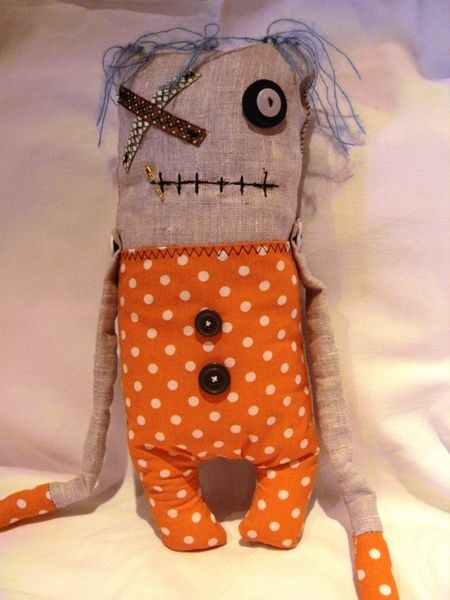 *Monster-Softie*handmade art doll *Oskar* von Doll(er) Laden auf DaWanda.com