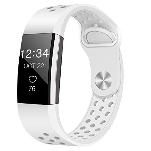 For Fitbit Charge 2 Bands Humenn Replacement Accessory Sport Band For Fitbit Charge 2 Hr 02 White Small Fitbit Charge Fitness Tracker Wearable Charge 2 Bands