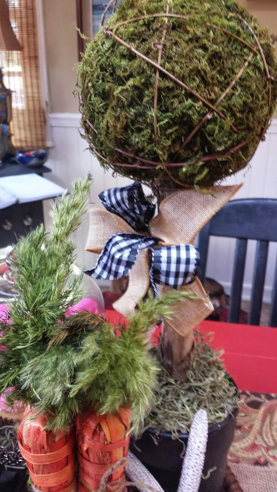 CHATwithGOD...: Easter Decor, Homemade Topiary Trees, Basket of Eggs, Carrot Bunches, Robins Eggs, Spring, Happy,