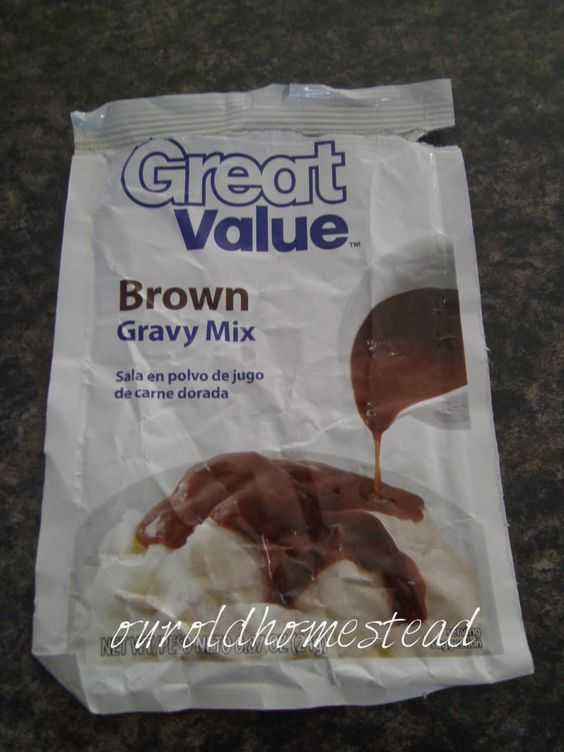 """..... Our Old Homestead: Brown Gravy Mix.  can leave out some of the """"bad"""" additives."""