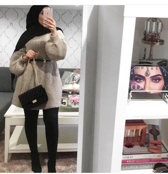 25 Hijab Style 23 Styles De Hijab Chic Pour Un Hiver 2019 En Toute Elegance Hijab Style In 2020 Hijab Chic Hijab Fashion Hijabi Outfits Casual