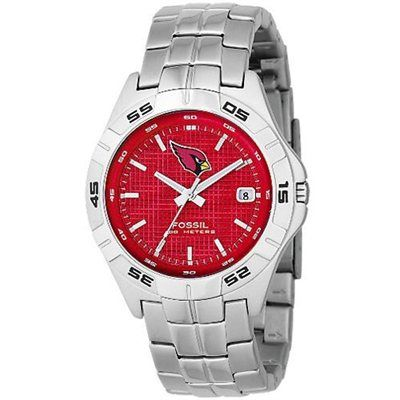 Fossil Arizona Cardinals Men's Stainless Steel Analog 3 Hand Date ...