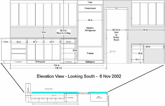 Kitchen Wall Elevation Models Renderings Drawings For