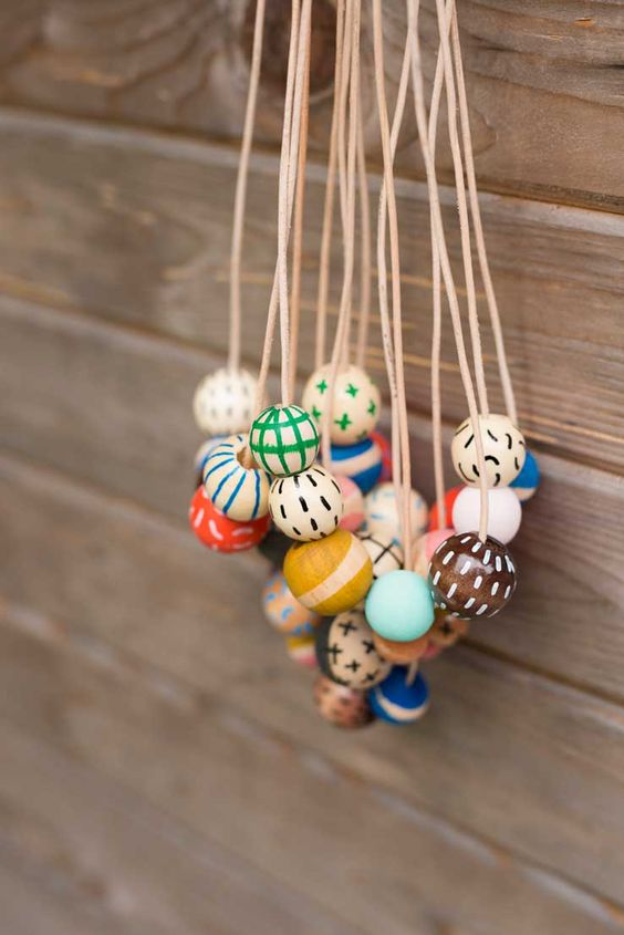 DIY painted beads