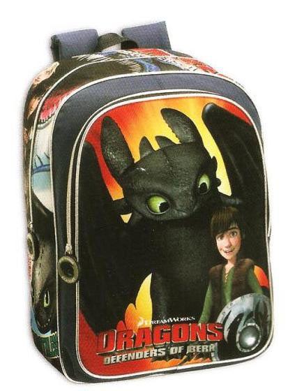 Mochila Como Entrenar a tu Dragón Preciosa mochila con la imagen de los protagonistas de la película Como Entrenar a tu Dragón.