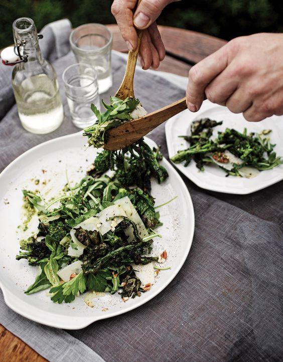 Grilled Broccoli Rabe and Arugula Salad   Recipe   Salads, Arugula ...