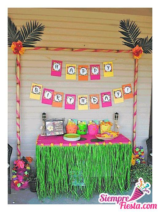 Incre bles ideas una fiesta de cumplea os hawaiana - Articulos de decoracion ...