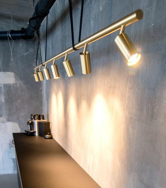 Long John Messing Lampe Lamper Lampe Lys
