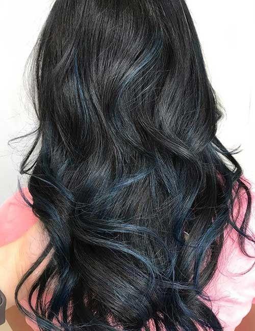 25 Balayage Frisuren Fur Schwarzes Haar Frauen Blog Balayage Frisur Balayage Schwarzes Haar Schwarzes Haar