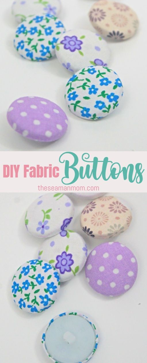 Learn How To Make Fabric Buttons For Your Own Projects At Home Without Any Special Tools Sewing Projects For Beginners Easy Sewing Projects Diy Baby Headbands
