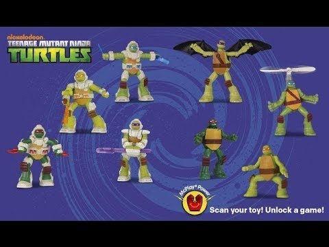 2016 Mcdonalds Happy Meal Toys Teenage Mutant Ninja Turtles New