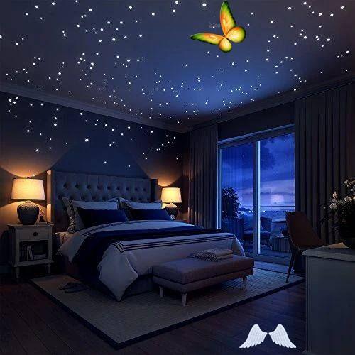 Glow In The Dark Stars Wall Stickers Br In 2020 Small Room Bedroom Bedroom Design Bedroom Diy