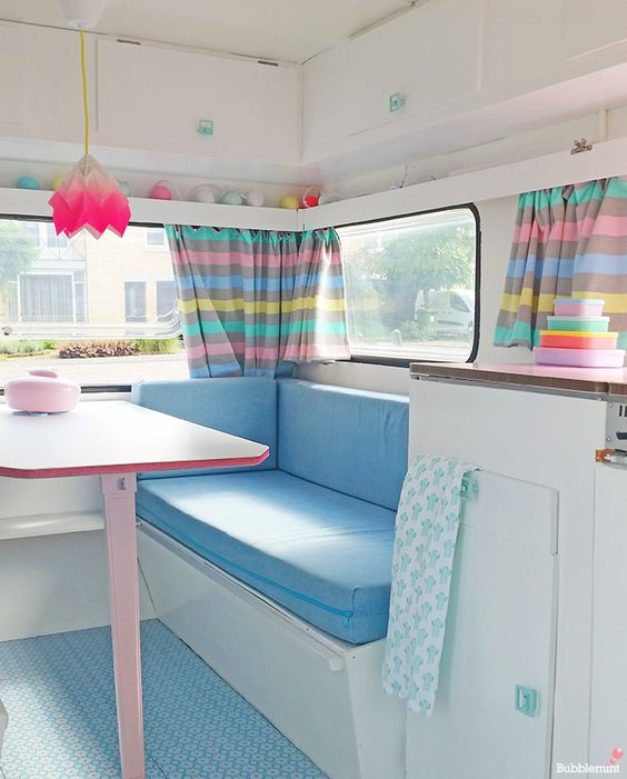 Mrbubbles diy caravan bubblemint caravanity home inspiration pinterest tes caravan Diy caravan interior design ideas