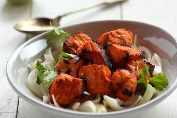 salmon tikka | Food Photography | Pinterest | Salmon