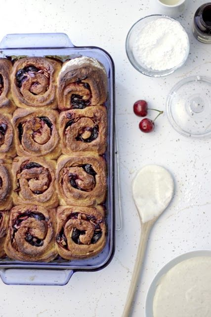 cherry morning rolls