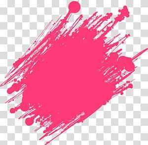 Pink Cross Stroke Ink Brush Pen Red Ink Brush Transparent Background Png Clipart In 2020 Color Splash Effect Banner Background Images Birthday Banner Background
