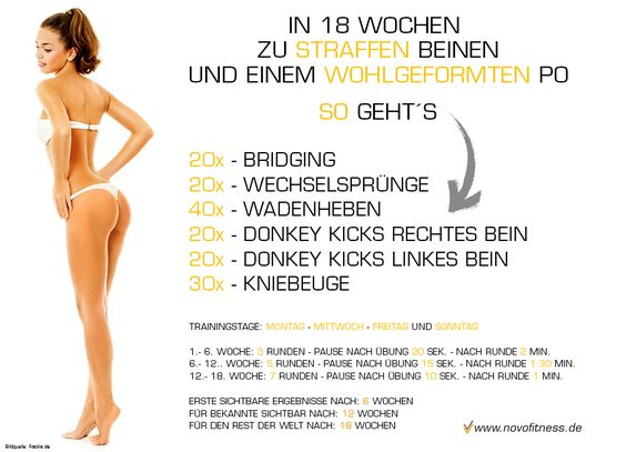 in 18 wochen zu straffen beinen und einem wohlgeformten po maximale fettverbrennung http www. Black Bedroom Furniture Sets. Home Design Ideas