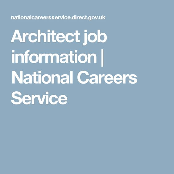 Architect job information | National Careers Service