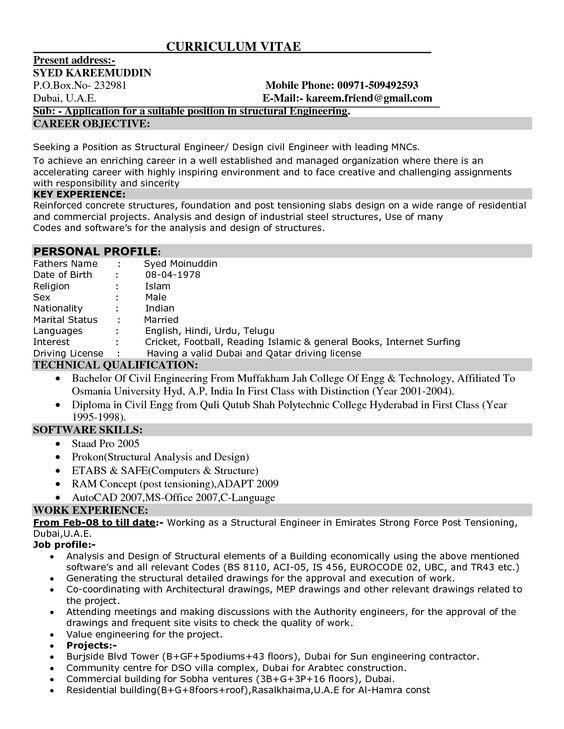 Civil Engineer Job Description Resume - http://jobresumesample.com ...