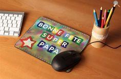 Tapis de souris pour la Fête des pères, instructions et modèle à imprimer. #fathersday
