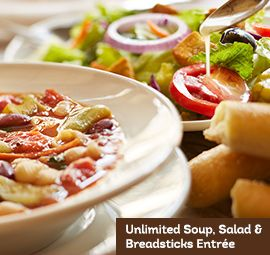 Olive Garden Coupon: Unlimited Classic Lunch Combo $5 (Valid until 4PM)