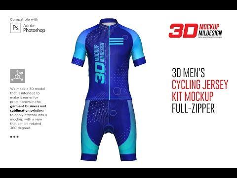 Download 3d Mens Cycling Jersey Kit Fullzip By Mild On Creativemarket Cycling Jersey Mens Cycling Cycling