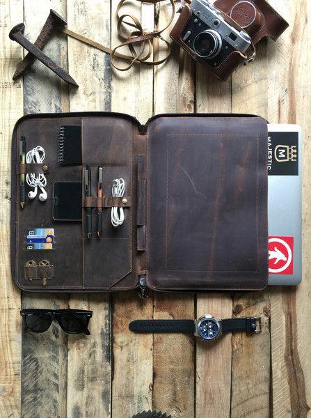 "Leather Portfolio Organizer For Apple 13""  – By Savage Supply Company"