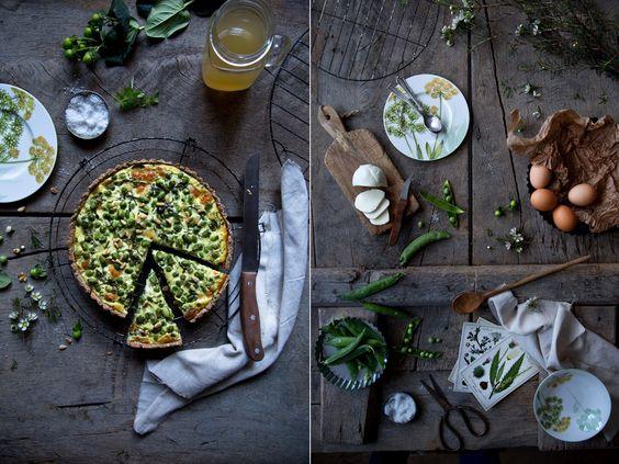 Frühlingsquiche mit Erbsen. | Foodlovin'