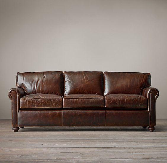 Petite Lancaster Leather Sofa