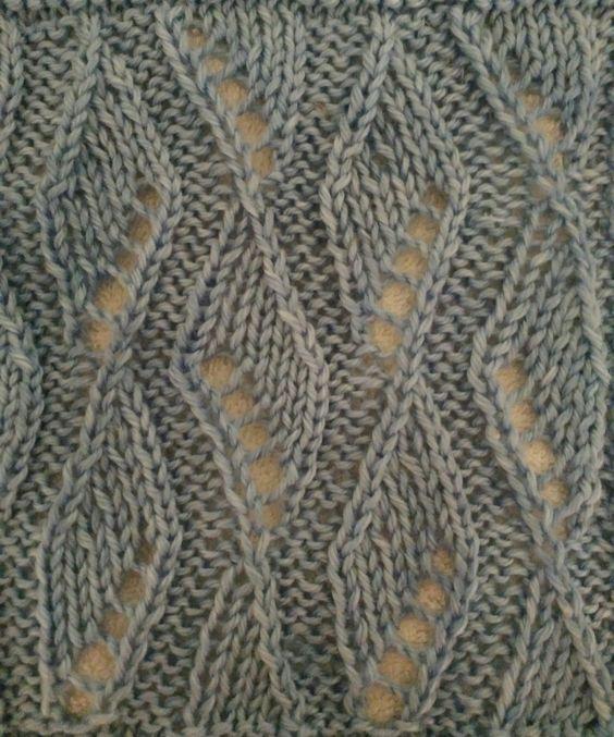 Knitting Ribbon Stitch : Lace ribbon, Knit stitches and Stitch patterns on Pinterest