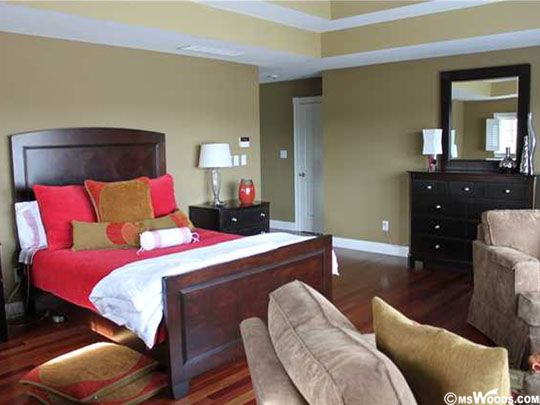 Photo of a bedroom taken inside an Indy area home.