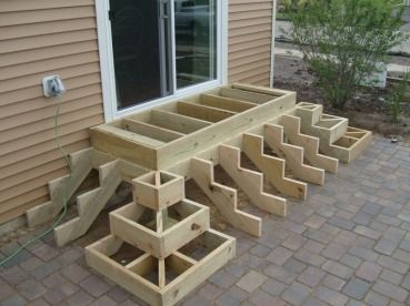 Trex Steps On Paver Patio | Outdoor Wood Projects | Pinterest | Patios,  Decking And Patio Stairs