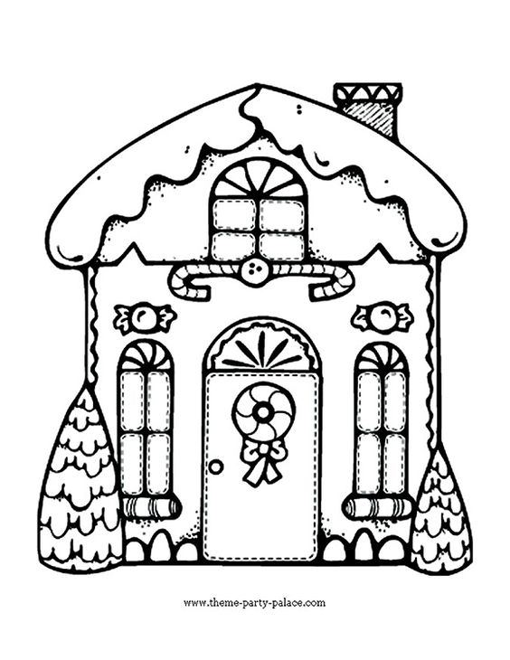 pertzborn gingerbread house coloring pages - photo#26