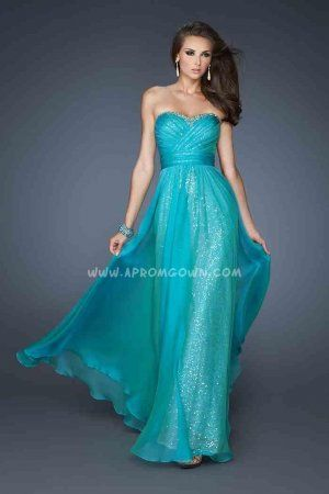 Peacock La Femme 18869 Full Sequin Chiffon Prom Dresses Cheap