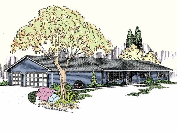 Eplans Ranch House Plan Three Bedroom Ranch 1418