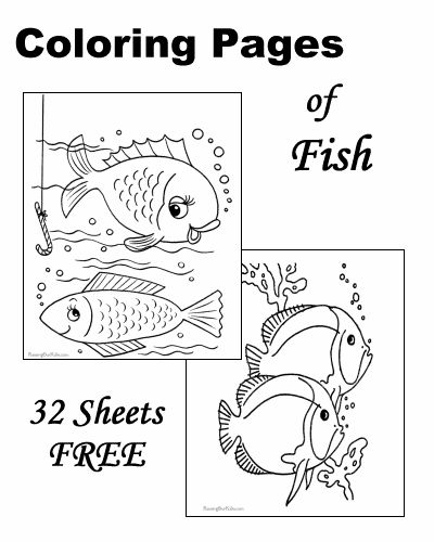 Fish coloring sheets Free printable